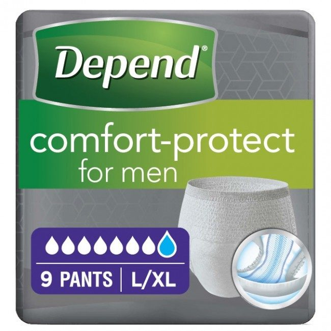 depend comfort pants for men